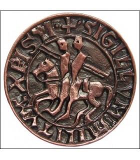 selo de Templar ímã, acabamento de cobre
