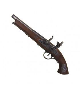 Flintlock pistola, século XIX francês. (Mão esquerda)
