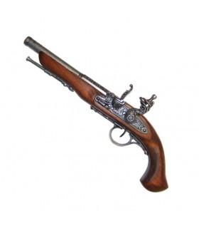 Flintlock pistola, no século XVIII. (Mão esquerda)
