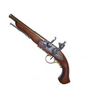 pistola de pederneira, do século XVIII. (Canhota)