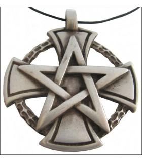 Templar Pentagrama Pingente Cruz