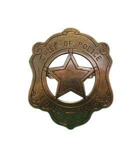 placa de chefe de polícia