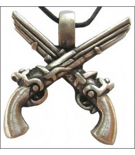 Pendurado piratas pistolas