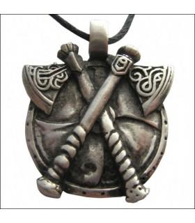 Viking eixos pingente de cruz
