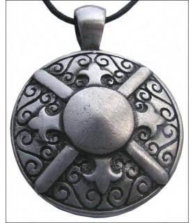 Escudo grego pendurado