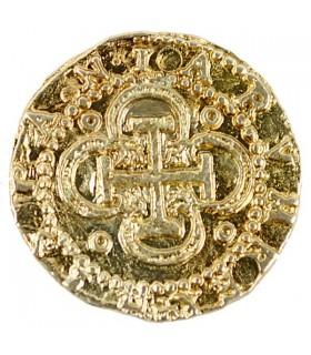 Moeda de 2 escudos de ouro, 3 cms.