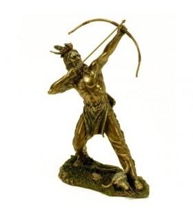 Figura arco e flecha indígena